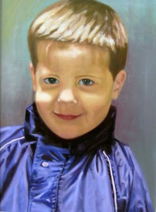 Paul (my son) 2012 46 x 35cm oil on canvas not available